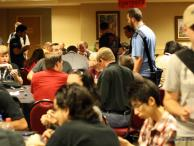 The lockpicking village at DEFCON was packed with people all weekend! Photo by JasonTheNerd.